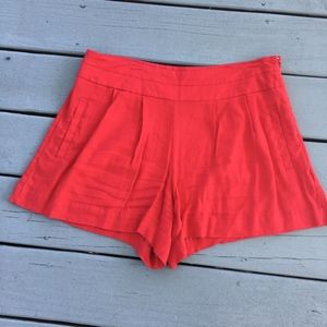 Red Worthington Shorts with Pockets